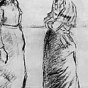Study For The Cat Camille Pissarro Art Print