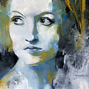 Study In Blue And Ochre Art Print