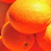 Study In Orange Art Print