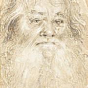 Study Of A Bearded Man [verso] Art Print