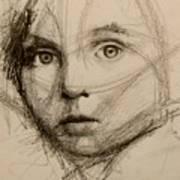 Study Of A Face Art Print