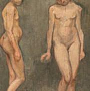 Study Of A Naked Model Art Print