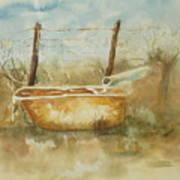 Study Of A Watering Tub Art Print