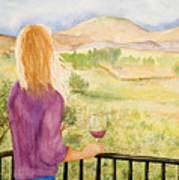 Study Of A Wine Ad Art Print