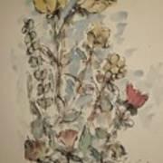 Study Of Flowers O Art Print
