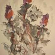 Study Of Flowers Y Art Print