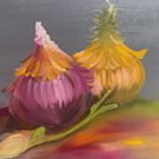 Study Of Onions Art Print