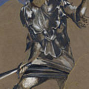Study Of Perseus In Armour For The Finding Of Medusa Art Print