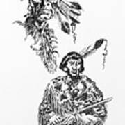 Study Of Two Indians Art Print