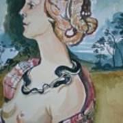 Study Of Vespuccia Art Print