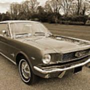 Stunning '66 Mustang In Sepia Art Print