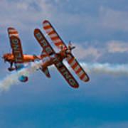 Stunt Biplanes With Wingwalkers Art Print