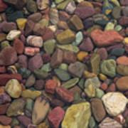 Submerged Lake Stones Art Print
