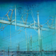 Substation Insulators Art Print