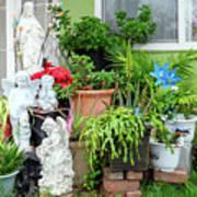 Suburban House With Front Yard Religious Shrine Hayward California 10 Art Print