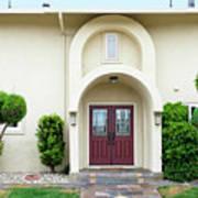 Modern Suburban House With Topiary Hayward California 31 Art Print