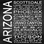 Subway Arizona State Square Art Print