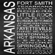 Subway Arkansas State Square Art Print