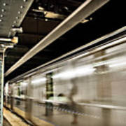 Subway Blur Art Print