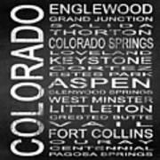 Subway Colorado State 2 Square Art Print
