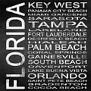 Subway Florida State 3 Square Art Print