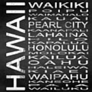 Subway Hawaii State Square Art Print