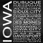 Subway Iowa State Square Art Print