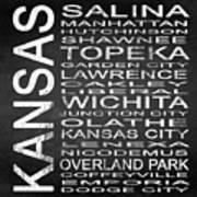 Subway Kansas State Square Art Print