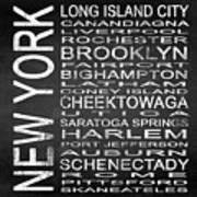 Subway New York State 3 Square Art Print