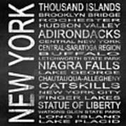 Subway New York State 4 Square Art Print