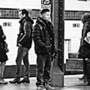 Subway Platform At 125th Street Art Print
