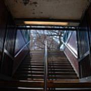 Subway Stairs To Freedom Art Print