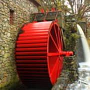 Sudbury Grist Mill Water Wheel Art Print