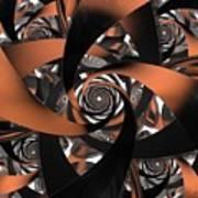 Suede Spiral Art Print