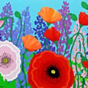 Sue's Flower Bed Art Print