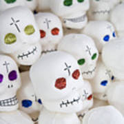Sugar Skulls For Sale At The Day Art Print by Krista Rossow