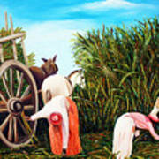 Sugarcane Worker 1 Art Print