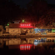 Suisan Fish Market At Night Art Print