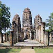Sukhothai Khmer Sanctuary Art Print