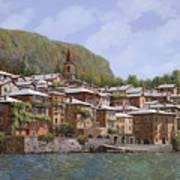 Sul Lago Di Como Art Print by Guido Borelli
