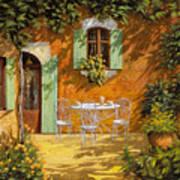 Sul Patio Art Print by Guido Borelli