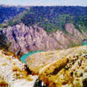 Sulak Canyon Art Print