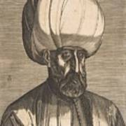Suleyman The Magnificent , Engraved By Melchior Lorck Art Print