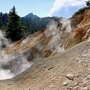 Sulfur Works In Lassen Volcanic Park Art Print by Christine Till