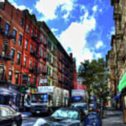 Sullivan Street In Greenwich Village Art Print by Randy Aveille