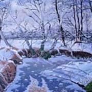 Sulphur Creek Snowfall Art Print