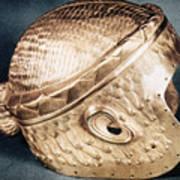 Sumerian Gold Helmet Art Print