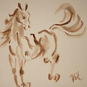 Sumi Horse Art Print by Lyn Vic