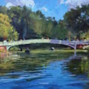 Summer Afternoon On The Lake, Central Park Art Print