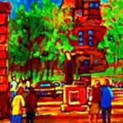 Summer At Mcgill University Art Print